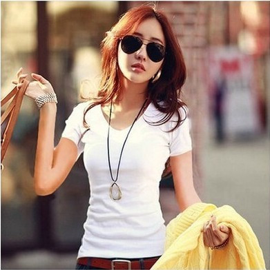 HTB1p0 NGVXXXXbHaXXXq6xXFXXX7 - Summer Casual T Shirt Women Tops Fashion Slim Female Short-Sleeve