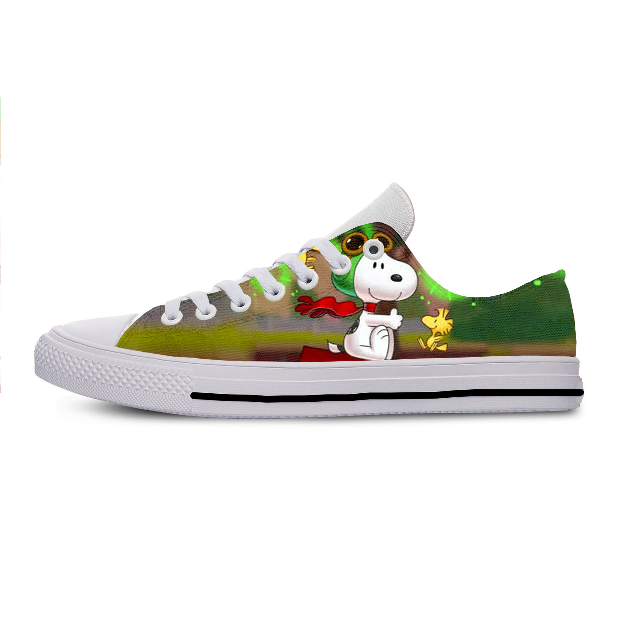 2019 Hot Cool Fashion High New Summer Sneakers Handiness Casual Shoes 3D Printed Cartoon Funny Cute For Men Women S n o o p y