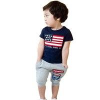 2015 yeni 3-8 yıl çocuk giyim eşofman marka boys/kızlar 1 takım % 100% pamuk yaz erkek giyim setleri çocuklar giysileri