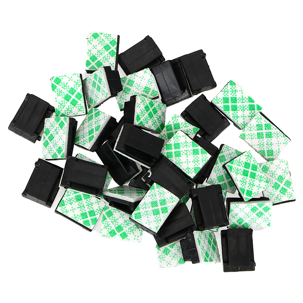 Interior Accessories Car Vehicle Data Cord Cable Tie Mount 40Pcs Wires Fixing Clips