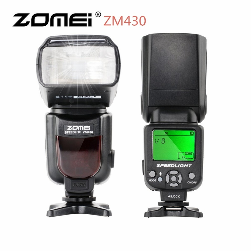 Zomei ZM430 Professional Manual Speedlite Flashlight With LCD Display Hard Flash Diffuser Universal For Canon Nikon Camera pair of trendy faux gemstone embellished women s earrings