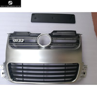Golf 5 R32 Racing grills ABS silver front Bumper Mesh Grille Grill For VW Golf5 MK5 R32 Bumper 2005 2009