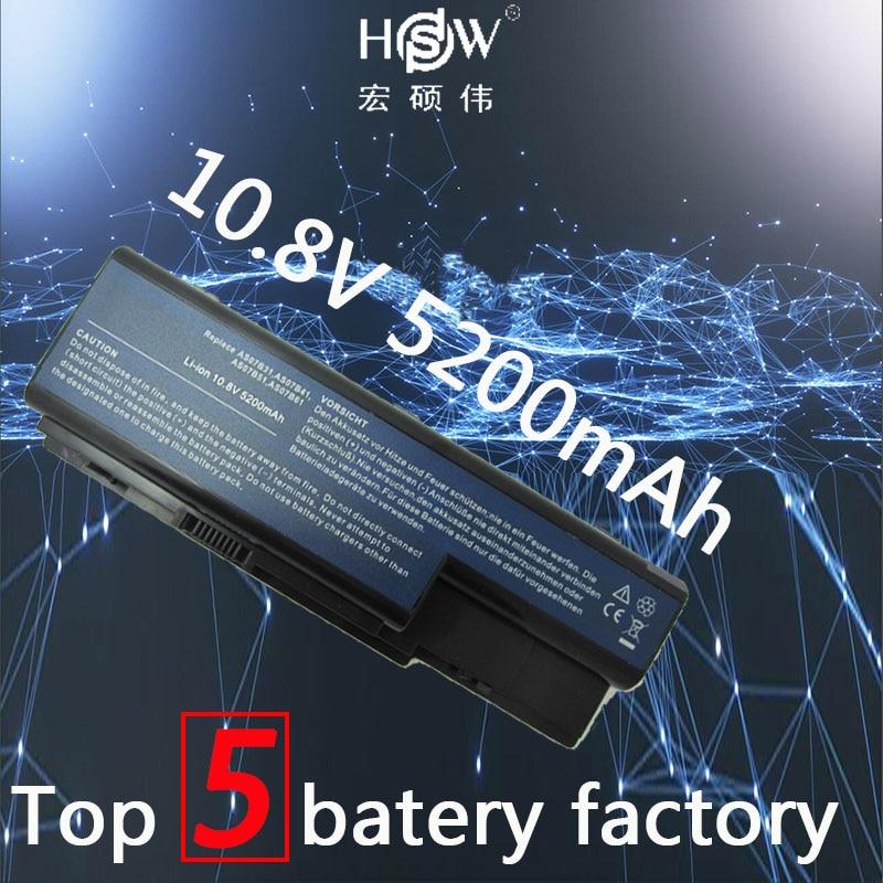 HSW laptop Batería AS07B31 AS07B41 AS07B51 AS07B61 AS07B71 AS07B72 AS07B42 batería para Acer Aspire 5230 5310 5315 5330 5520 5530