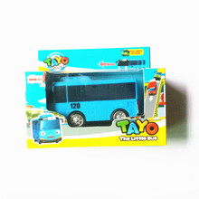 Корейские Мультфильмы Тайо маленький автобус oyuncak араба Масштаб модели автомобиля мини пластиковые отступить милый tayo автобус для детей Рождественский подарок