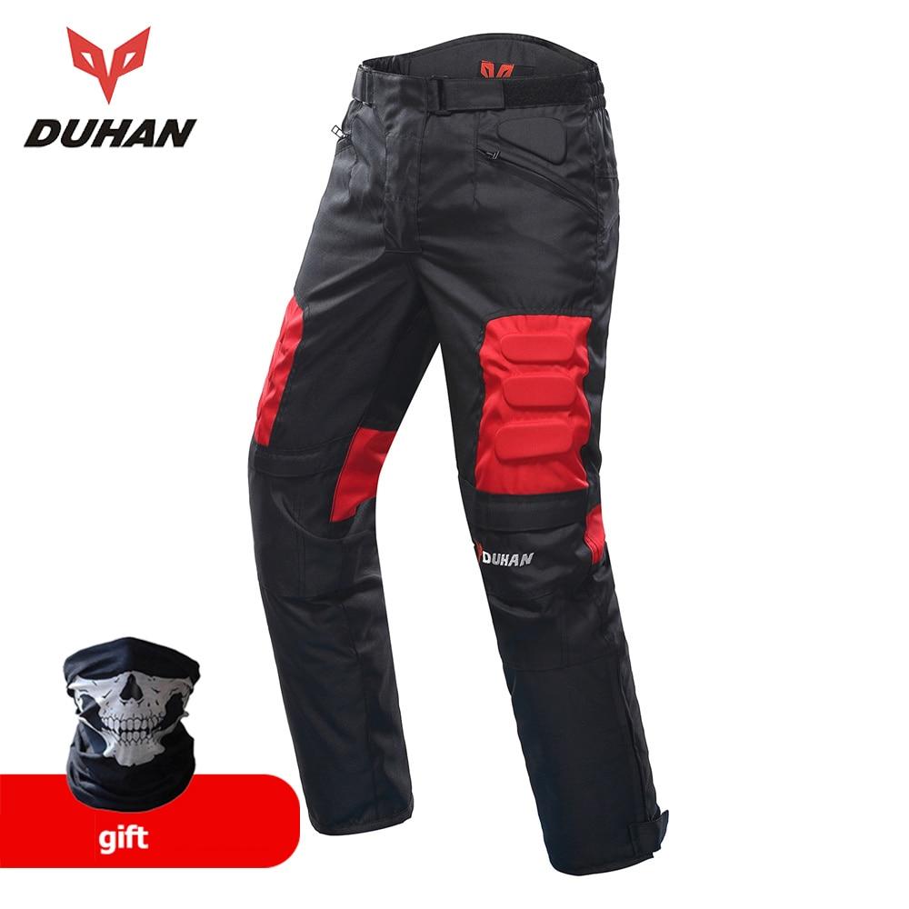 DUHAN אופנועים מכנסיים גברים מוטו מוטוקרוס מכנסיים אנדורו רכיבה מכנסיים מוטוקרוס מחוץ לכביש מרוצי ספורט ברך מכנסיים מגן