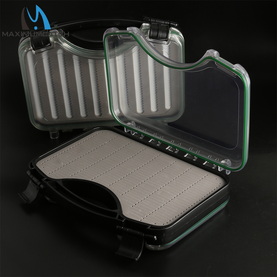 Maximumcatch Waterproof Super Fly Suitcase Box Double Side With Slottedand Notched Foam 275*195*60mm коробка для мушек snowbee slit foam compartment waterproof fly box x large