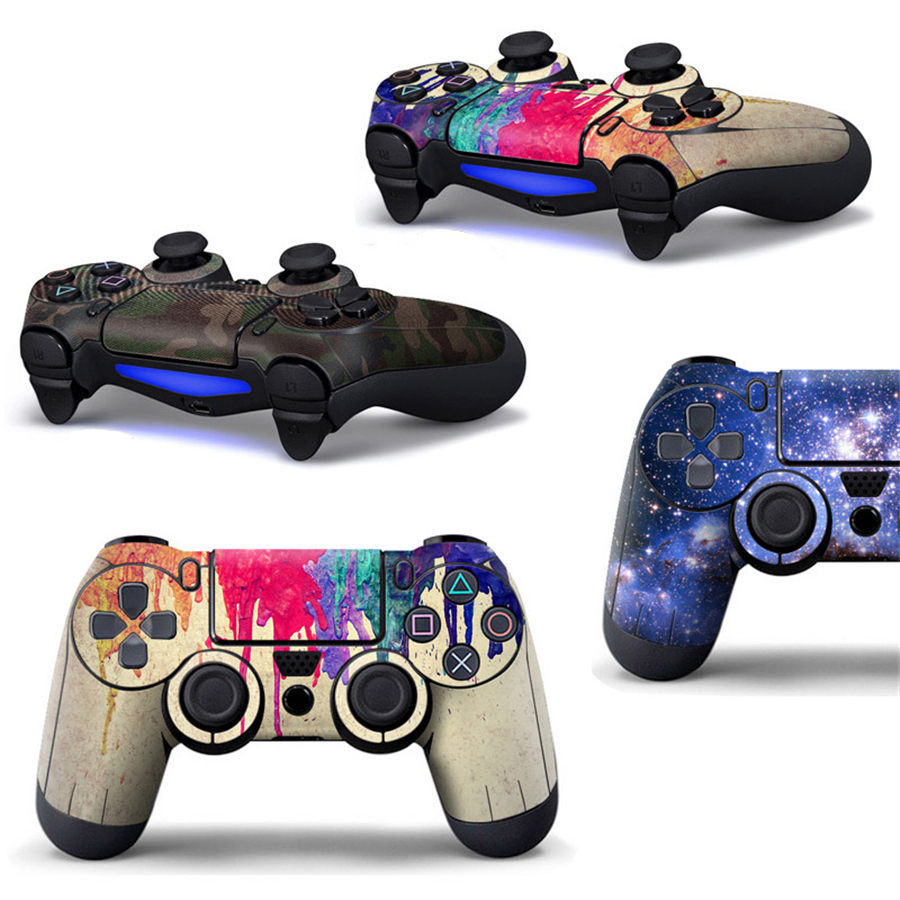 Full Cover Skin Stickers for Sony Playstation 4 Controller Prevent Scratches Protector Sticker for PS4 Controller Accessories full housing shell case skin cover button set with full buttons mod kit replacement for playstation 4 ps4 controller gold