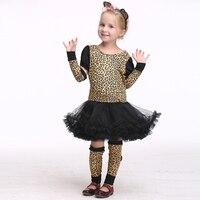 Bella Vitalità Versione Della Neonata Vestiti Cosplay Impertinente Piuttosto Leopardo Ragazza Giornata dei bambini di Halloween Carnival Party Dress