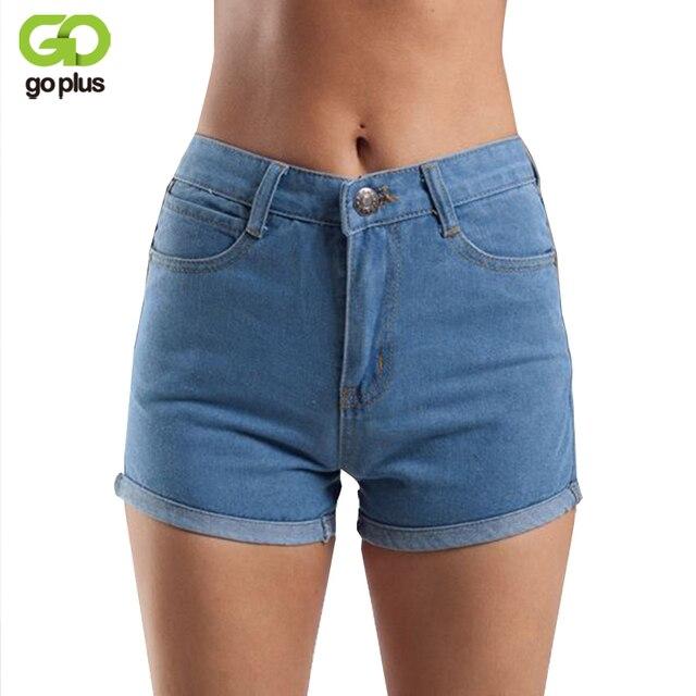 GOPLUS 2018 New Summer Shorts Taille Haute Short En Jean Vintage Noir Jeans  Shorts Femmes Slim c89b4fd0bff