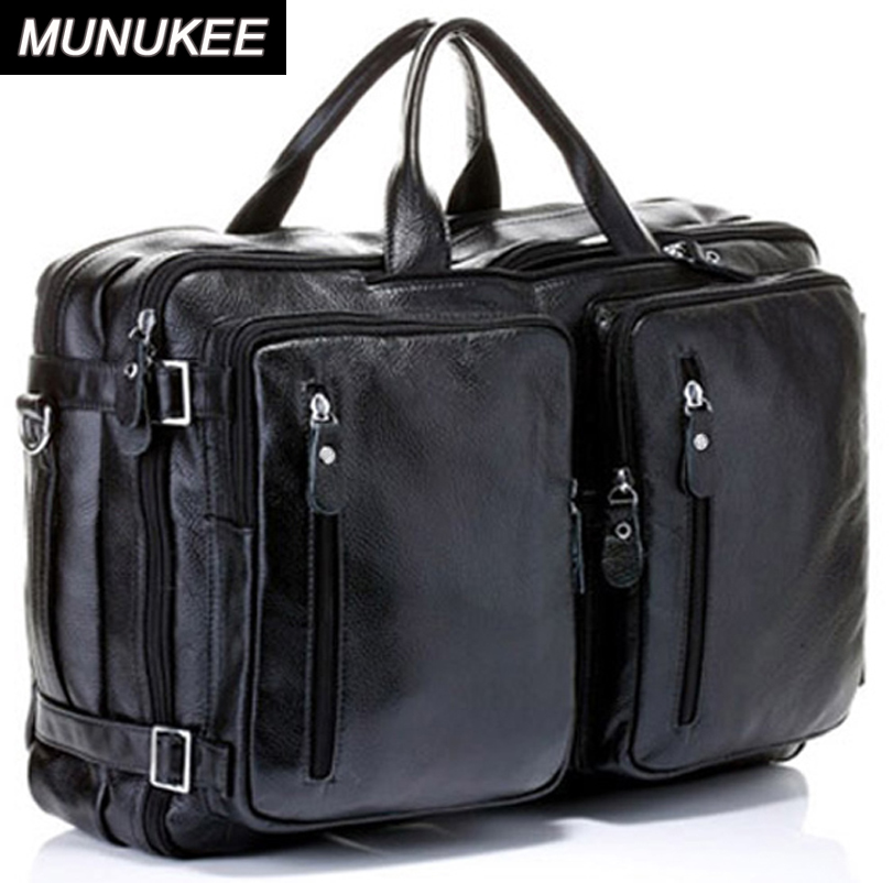 Us 105 99 35 Off 4use 100 Cowhide Genuine Leather Men S Travel Bag Real Duffle Luggage Carry On Overnight Handbag Tote Black In