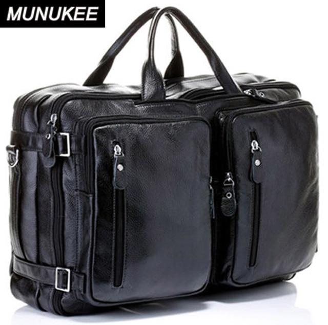03d145852b02 4USE 100% Cowhide Genuine Leather Men s Travel Bag Real Leather Duffle Bag  Big Luggage Bag Carry On Overnight Handbag Tote Black