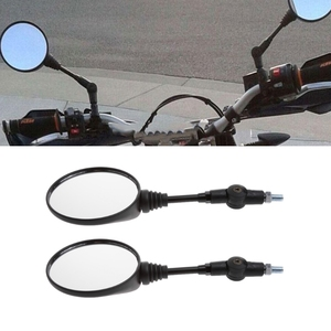 Image 4 - Free shipping Universal 1 Pair Folding Motorcycle Side Rearview Mirror 10mm For Yamaha Honda High Quality
