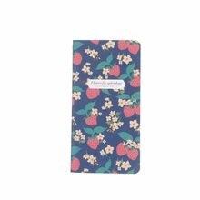 48K fraise poche cahier Mini dessin animé cahier bloc-notes Papelaria Escolar 173*90mm, 24 feuilles/48 pages