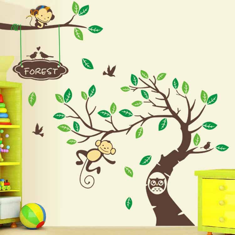 Kids Wall Art online get cheap monkey wall art kids -aliexpress | alibaba group