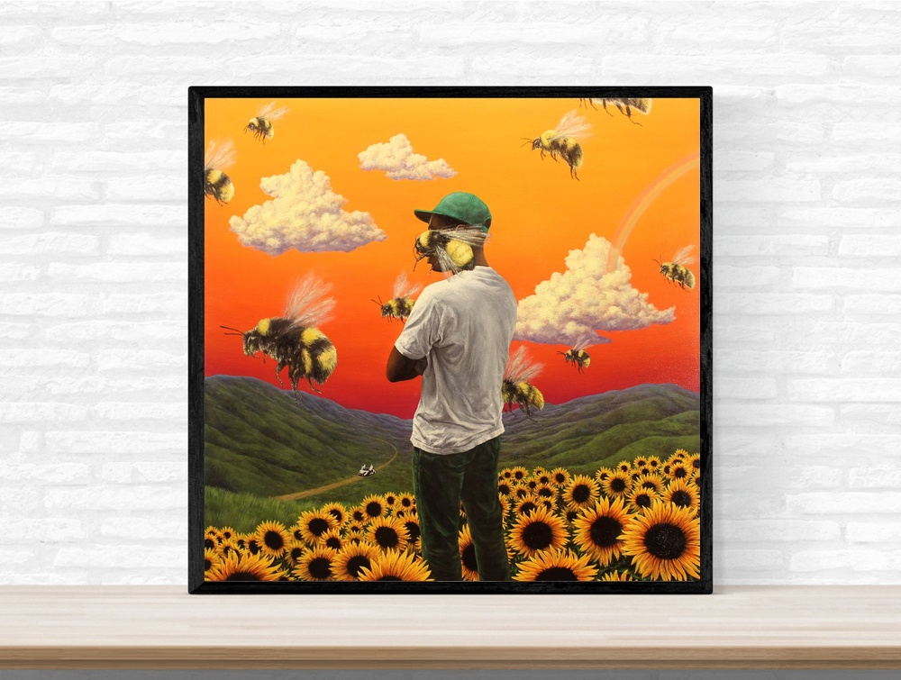 Oil Print Canvas Wall Art Decor Tyler the Creator Flower Boy Rap Music Album Cover Painting Art No Frame Oil Painting Print image