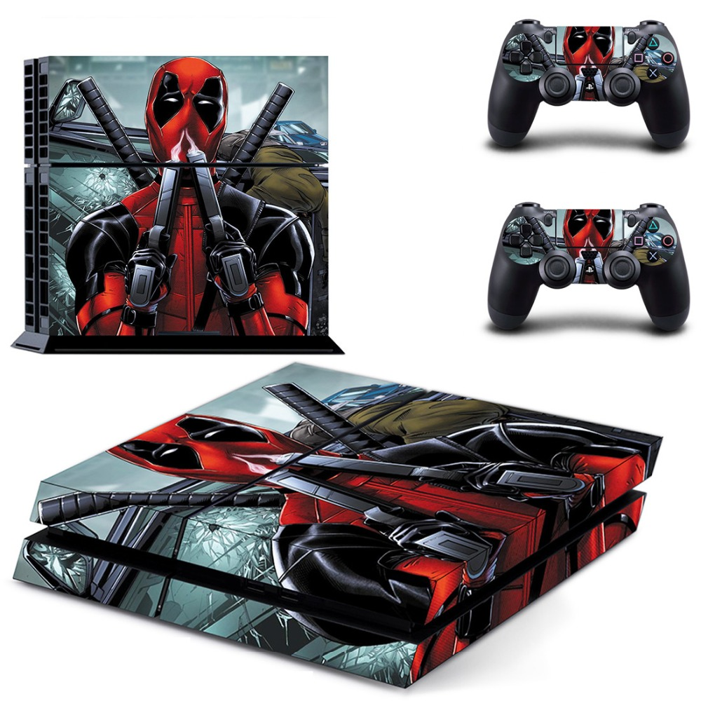 Movie X-Men Deadpool PS4 Skin Sticker Decal for PlayStation 4 Console and 2 controller skins PS4 Stickers Vinyl