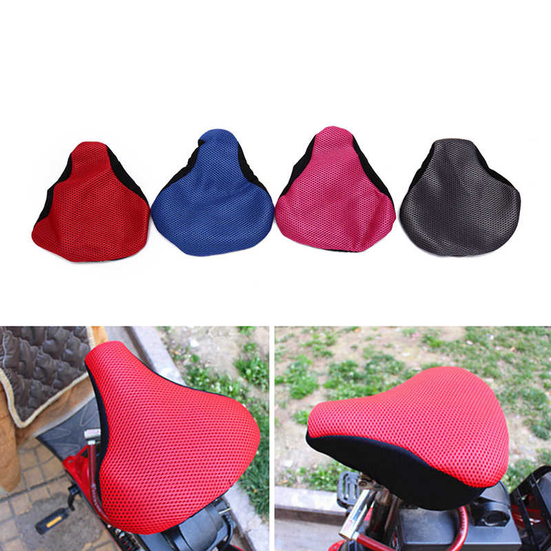 Cycling Net Seat Mat Cushion Seat Cover Saddle Bicycle Bike Accessories 3D Soft Bike Seat Saddle for A Bicycle random color