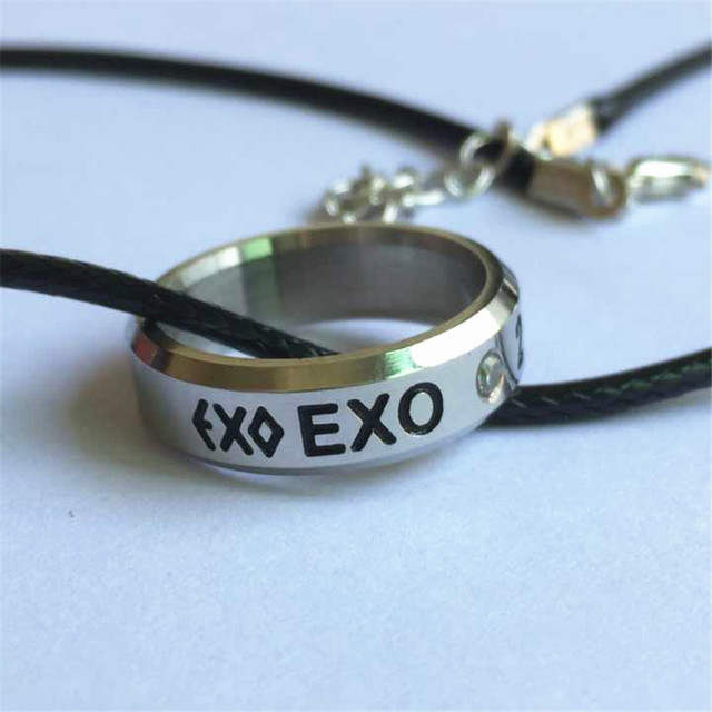 Youpop KPOP EXO Birthday Fan K M EXODUS Team Logo Alloy Jewelry