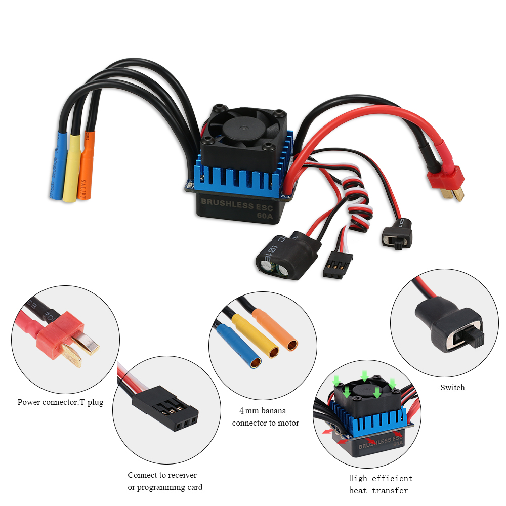 3650 3900kv Sensorless Brushless Motor With 60a Esc For 1 Banana Plug Wiring Diagram We Accept Alipay West Union Tt All Major Credit Cards Are Accepted Through Secure Payment Processor Escrow
