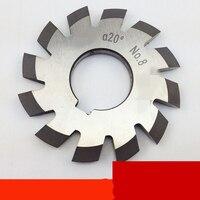 Conjunto 8 pces módulo 1.75 pa20 bore22 1 #2 #3 #4 #5 #6 #7 #8 # involute cortadores de engrenagens m1.75