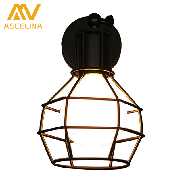 Vintage Wall Lamp American Country industry Style AC E27 Bedside Lamp Wall Sconce Iron Industrial Indoor Lighting