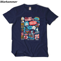 Warhammer 2017 Summer New Arrival Rick And Morty Men T Shirt Cotton Pattern O Neck Tee
