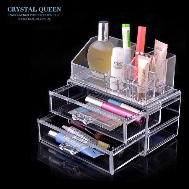 Acrylic jewelry display Cosmetic Jewelry Makeup Organizer Case 2