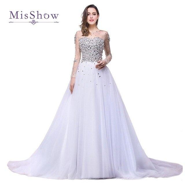 robe de mari e princesse strass avec manche