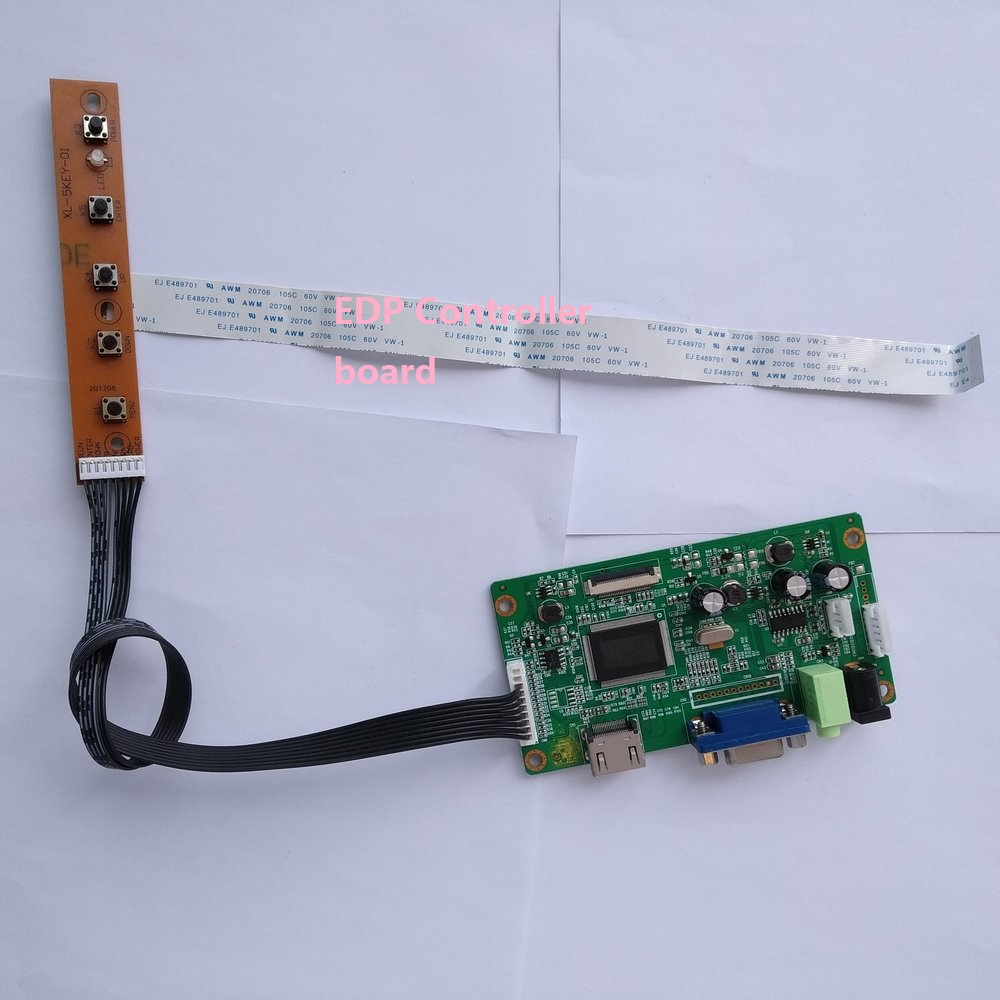 For N156HGE-EAB 30Pin DIY LCD EDP DRIVER KIT VGA Controller Board 1920X1080 SCREEN Display Monitor 15.6