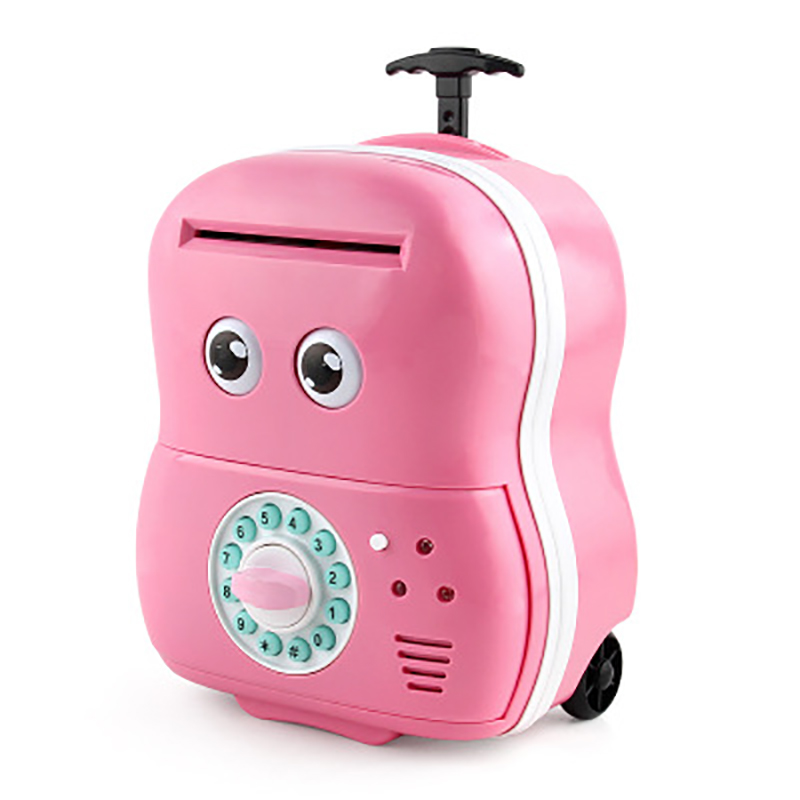 Eworld Hot New Electronic Password Chewing Coin Cash Deposit Machine Gift for Children Kids Piggy Bank Mini ATM Money Box Safety