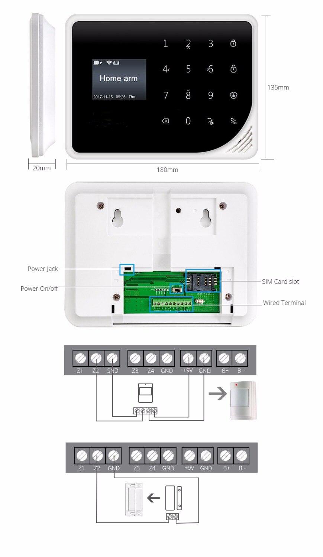 Yobang Security GSM Home Burglar Security Alarm System PIR Motion Detector APP Control Sensor Alarm Smart Fire Smoke Detector - 3