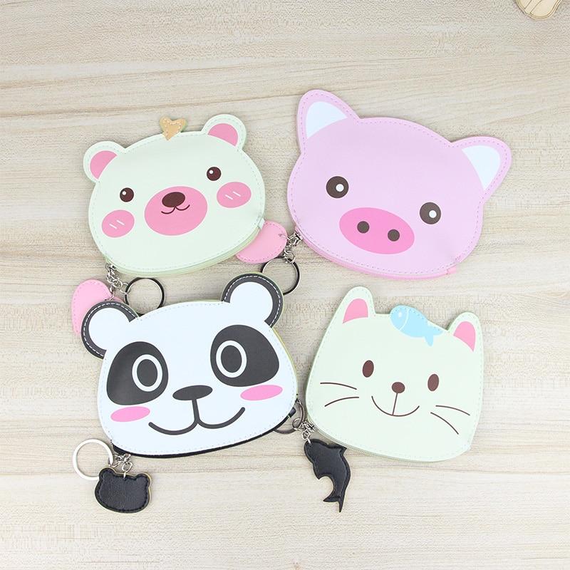 Katuner Cartoon Bear Mini Wallet Kids Children Cute Coin Purse For Girls Women Leather Coin Pouch Card Bag Porte Monnaie KB082