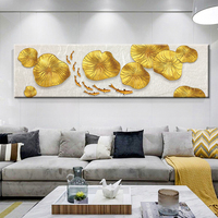 Decorative Canvas Painting Wall Picture Gold Leaf Painting Posters And Canvas Printing For Living Room Bedroom
