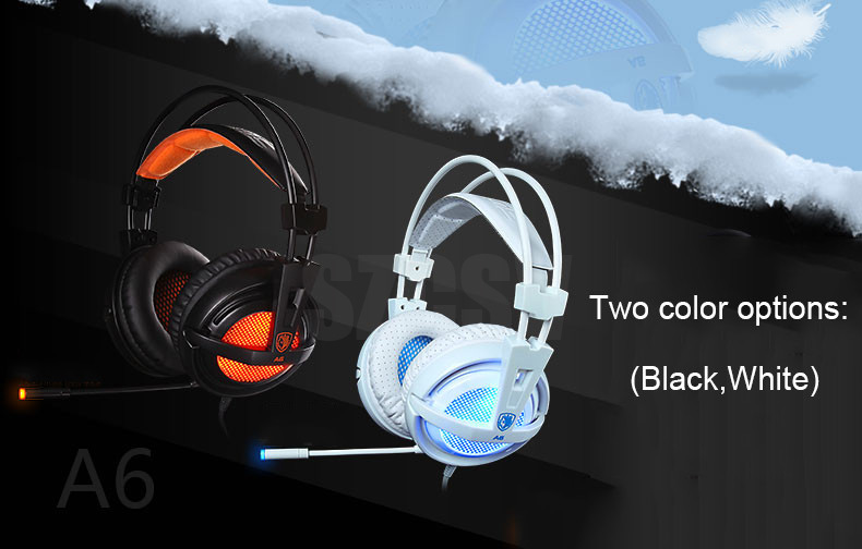 Sades A6 Gaming Headphones 7.1 Surround Sound Stereo USB Game Headset with Microphone Breathing LED Lights for PC Gamer (2)