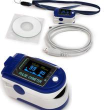 Contec cms50d + display oled cms 50d mais software usb dedo oxímetro de pulso do oxímetro