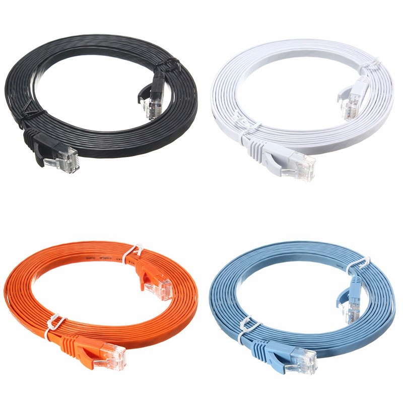 High Speed 300CM Full Copper Cables Flat CAT6 Flat Cable RJ45 Computer LAN Ethernet Internet Network Cord top high speed full teeth piston
