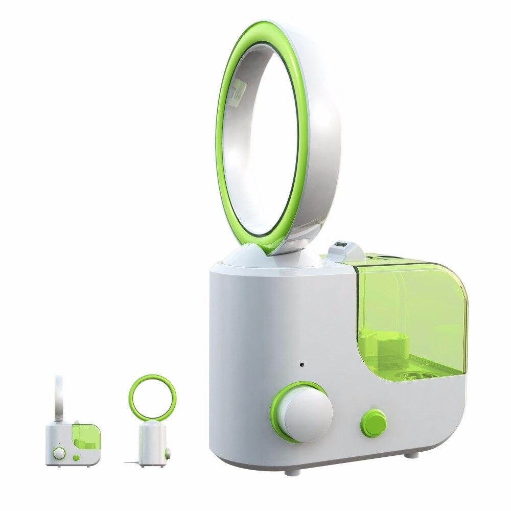 MINI Electric Desktop No Leaf Air Cooling Fan Humidifier Diffuser Mist Maker Fogger Bladeless Cooler Office 110V 220V EU US Plug