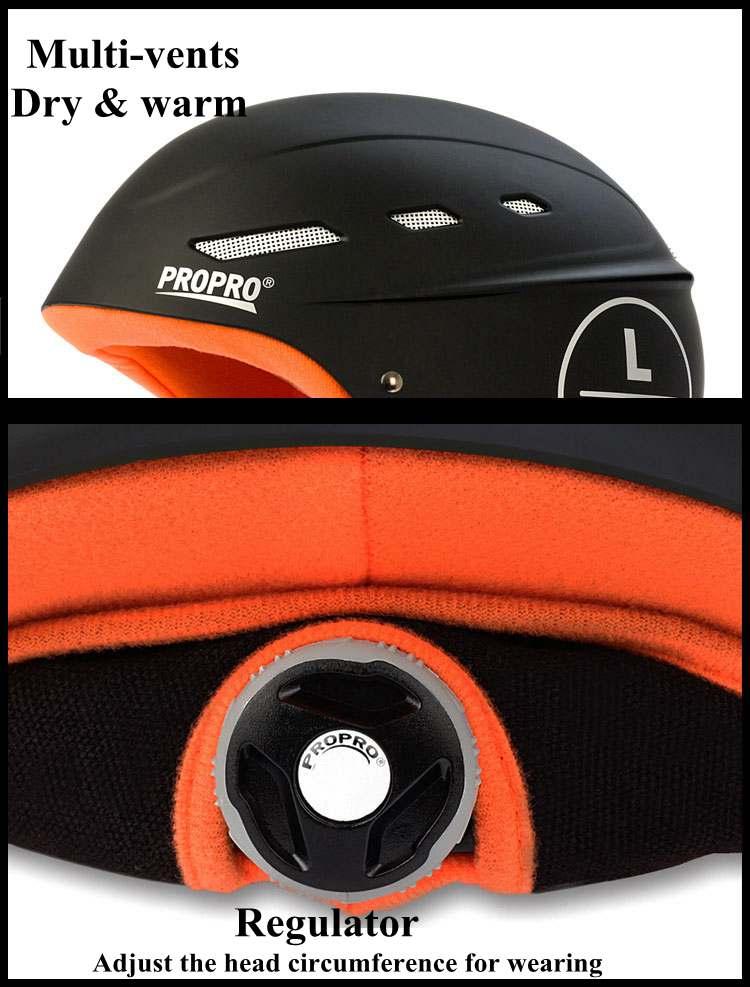 moldado à prova de vento snowboard capacete