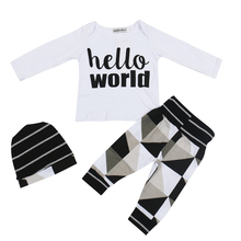 2017 new Baby Boy Girl Winter Clothes infant Clothing Sets Baby Long Sleeve 3pcs Outfits Toddler Girl Tracksuit newborn clothes