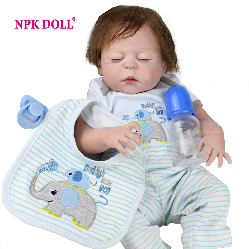 NPKDOLL 55 CM Doll Reborn Handmade Soft Vinyl BeBe Reborn For Girls 22 Inch Reborn Babies Dolls Kids Playmate Dropshiping warkings reborn