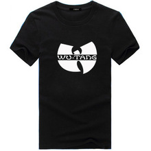 New Men WuTang T shirt Hip-hop Short Sleeve Tee Cotton O-neck Print Tops