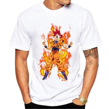 2017 Fashion Super Saiyan God Blue Form T-Shirt Son Goku T Shirt Dragon Ball Z Tops Goku Normal Y Super Guerrero Cool Print Tees
