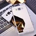 Роскошные Зеркало Случае Мягкой ТПУ Задняя Крышка Для Samsung Galaxy A3 A5 A7 2016 J3 J5 J7 S4 S5 S6 S7 Край Плюс Grand Prime Телефон случаях