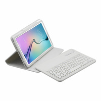 Wireless Bluetooth Keyboard +PU Leather Cover Protective Smart Case For Samsung Galaxy Tab E 9.6 T560 T561 + Film + Stylus
