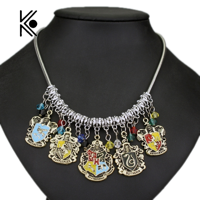 Diy jewelry college logo hogwarts gryffindor hufflepuff slytherin diy jewelry college logo hogwarts gryffindor hufflepuff slytherin ravenctaw necklace pendants movie jewelry free shipping mozeypictures Image collections