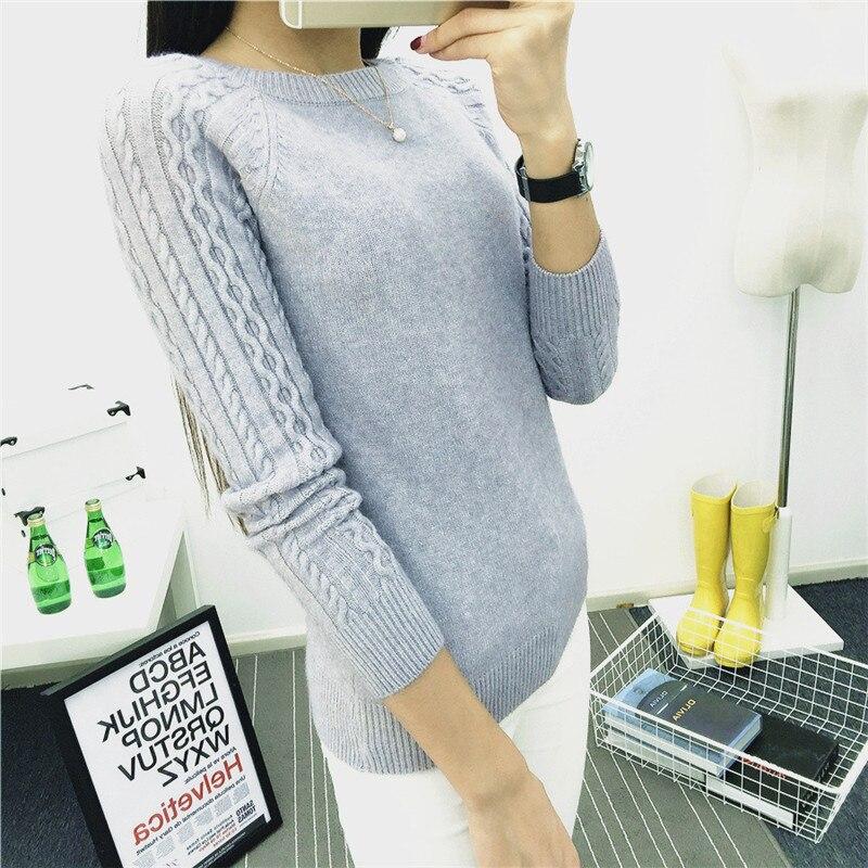 Women Sweater Tops 2018 Autumn Winter Luxury Knitting Shirts O-neck Hot