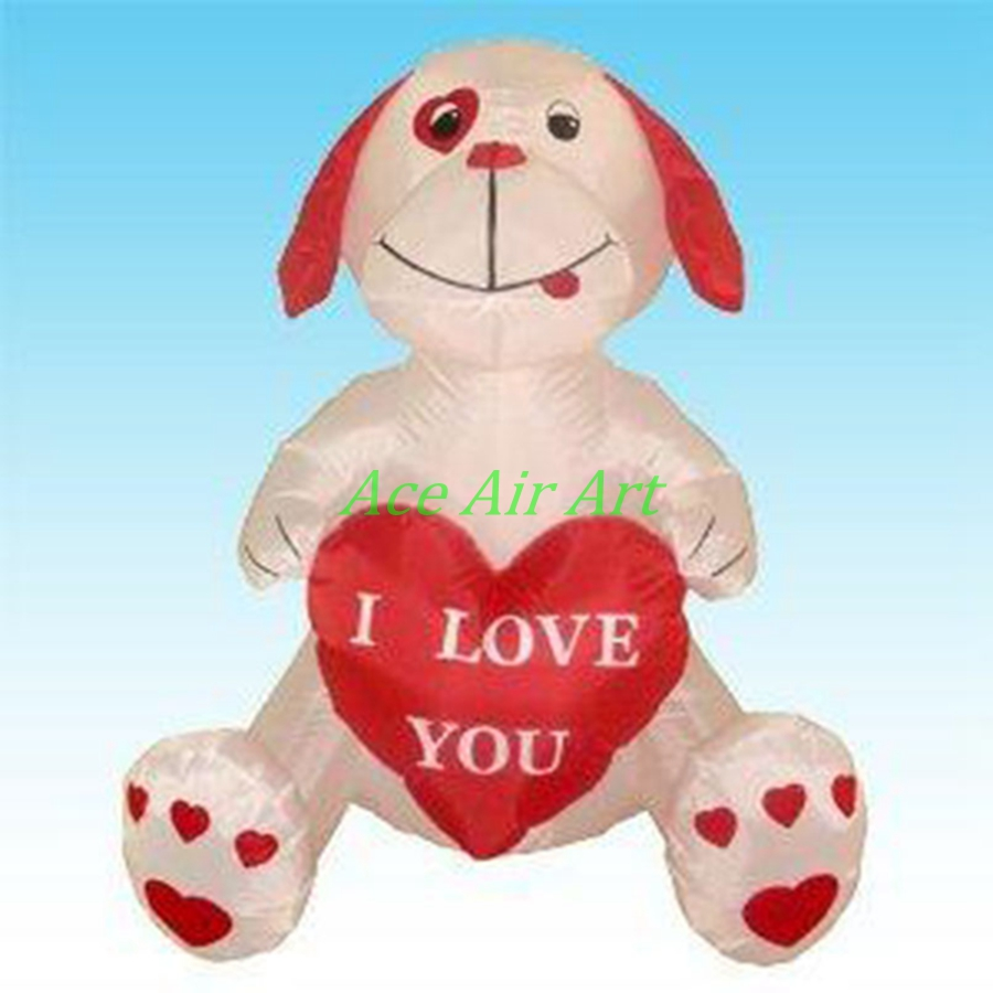 Teddy Bear Valentines Day Inflatable For Decoration, Inflatable Valentine  Bears With Red Heart In Hand, Inflatable Valentine Bea In Party Backdrops  From ...
