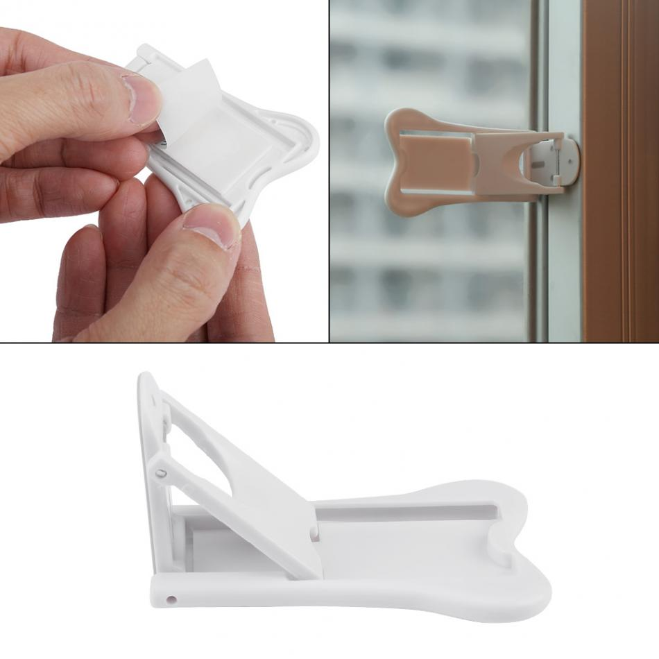 2pcs Baby Care Safety Invisible Lock For Children Kids Lock Door Window Safety For Infant Child Kids Safety Products