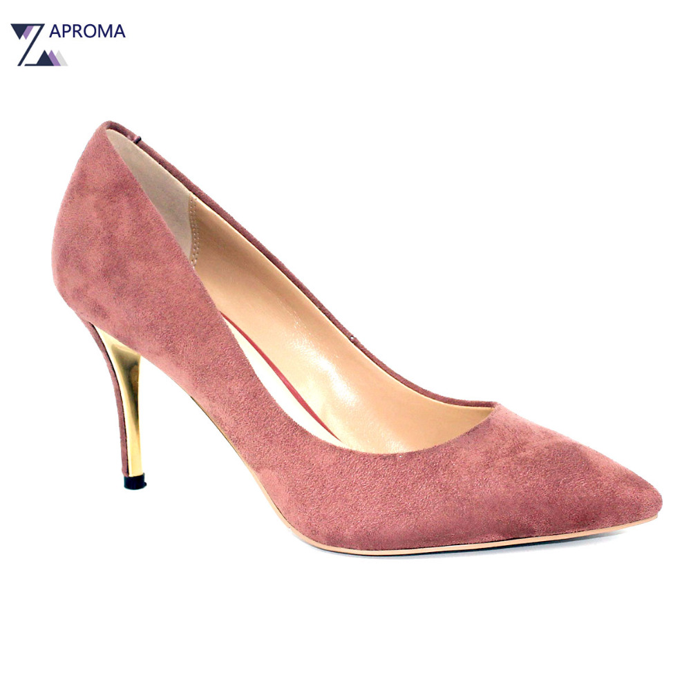 Basic Shoes Women Pointed Toe Super High Heel Pumps Party Thin Heel Shoe Elegant Violet Red Slip On Gold Heels 2018 Spring Autum trendy thin heel pointed toe women polka dot pump spring slip on high heels black white stiletto 2018 brand fetish factory shoes