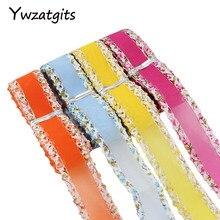 Ywzatgits 25 мм 3y/lot Ширина Multi Цвет вариант Свадьба Craft Double Face ленты 040014004017